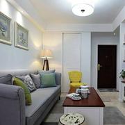 小户型单身公寓装修客厅图