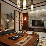 中式风格客厅装修电视背景墙
