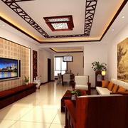 中式客厅背景墙装修图