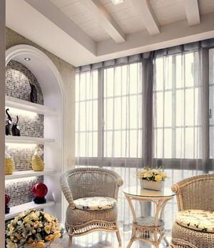 2015沐浴着春光的现代精致阳台装修效果图