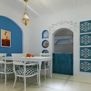 地中海风格餐厅装修色调搭配