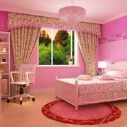 小卧室壁纸装修窗帘图