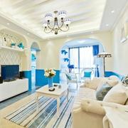 地中海风格客厅色调搭配
