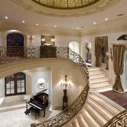 室内楼梯设计吊灯图