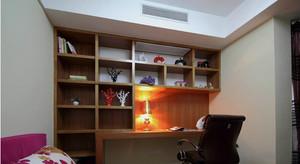 别墅小书房书柜装修效果图