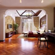舒适的地中海风格客厅吊顶图