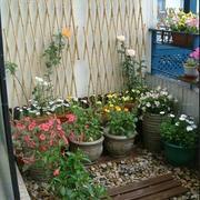 农村别墅入户花园背景墙图