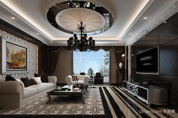 别墅后现代奢华客厅装修效果图