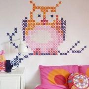 儿童房卧室壁纸装修图案图