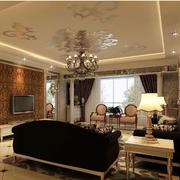 欧式罗马柱现代客厅设计