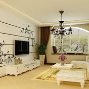 客厅飘窗设计装修色调搭配