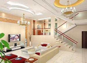 2015风格特别的复式楼装修效果图