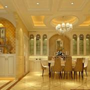 明亮黄色餐厅装修效果图