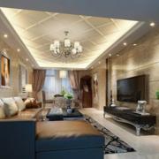 完美舒适客厅装修效果图