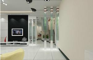 现代欧式风格客厅隔断装修效果图