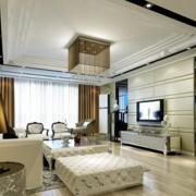 客厅装修效果图吊灯设计