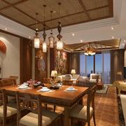 东南亚风格餐厅装修色调搭配