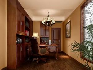 实木元素打造的书房设计装修效果图大全