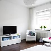 纯情白色电视背景墙装修