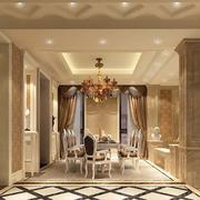 欧式风格餐厅装修过道图