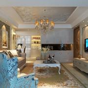 大气的欧式风格客厅装修效果图