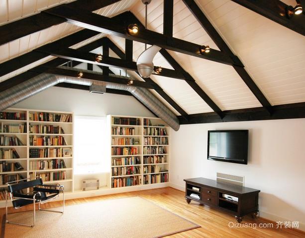 洋气小别墅阁楼书房装修效果图