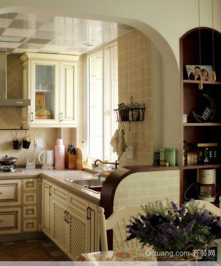 30平米美式厨房隔断装修效果图