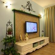 室内花架装修背景墙图