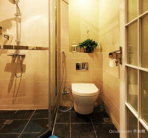 小户型欧式轻松简约卫生间装修效果图