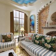 地中海风格客厅沙发设计
