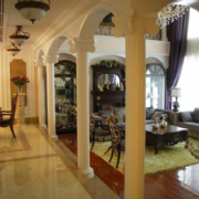 唯美精致的美式客厅效果图