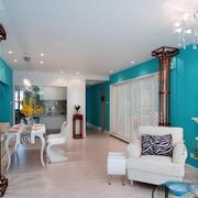 地中海风格餐厅装修背景墙图