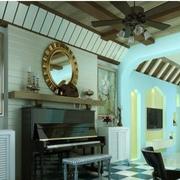 温馨地中海风格客厅图
