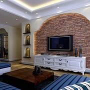 地中海风格客厅电视背景墙