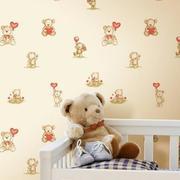 儿童房卧室壁纸装修图案