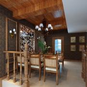 东南亚风格餐厅装修桌椅设计