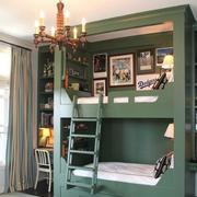 儿童房高低双层床装修实景图