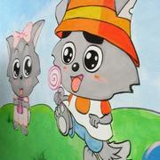充满通话的幼儿园壁画图片