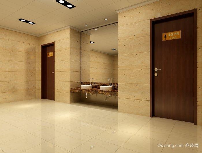 干净整洁的大型商场卫生间装修设计效果图