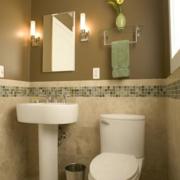 现代卫生间灯光设计效果图