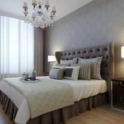 卧室壁纸装修窗帘图