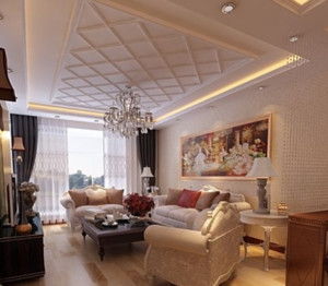 2015美式跃层客厅装修效果图
