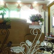 室内花架装修窗帘图