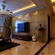 美式风格客厅装修灯光设计