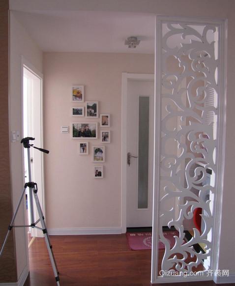 时尚雅致的现代客厅屏风隔断装修效果图