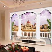 欧式罗马柱整体客厅