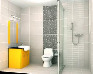 现代简约时尚卫生间装修效果图