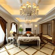 欧式风格客厅装修整体效果图