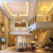 豪华美式客厅灯光设计效果图