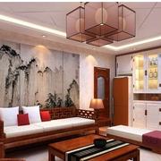 中式风格客厅装修壁纸